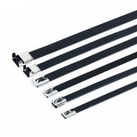 Buy cheap Plastic Covered Metal Wire Ties , Black Stainless Steel Cable Tie Pvc Coated from wholesalers