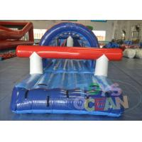 Famous Blue Sports Inflatable Water Game Obstacle Course For Pool Of Parkinflatable