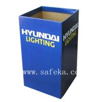 China Simple Store Cardboard Square Dump Bin for Lighting Products wholesale