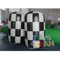 China White Black Floating Inflatable Water Buoys Tube Marker For Safety Advertising wholesale