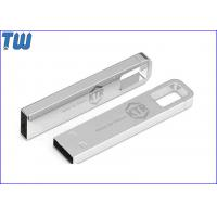 China Solid Full Metal Buckle Pen Drive Laser Engraved Logo 16GB Thumb Drive wholesale