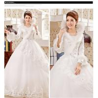 China Full back high collared Princess wedding gowns long train womens wedding dress wholesale