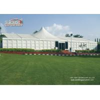China High Peak Canopy Marquee , White Color ABS Sidewall Hard Wall System Aluminum Party Tents wholesale