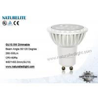 China 5W  Led Spotlight Bulbs Dimmable , GU10 LED Spot Light Bulb on sale