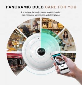 China Wi-Fi bulb Camera VR 1080P LED FishEye smart Home Phone spy lamp hidden Light Bulb Wireless Wifi 360 degree Panoramic C wholesale