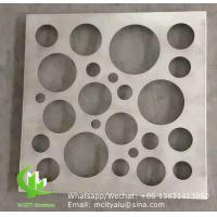 China round aluminum decorative panel cladding panel with pvdf finish for facade curtain wall solid panel single panel wholesale