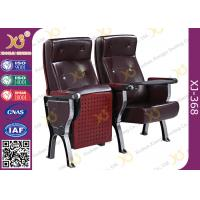 China Custom PU Leather Back Auditorium Theatre Seating Chairs With Tablet Arm wholesale