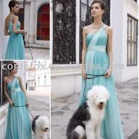 China simple light green bridesmaid dresses,  elegant belted bridesmaid ceremony dresses wholesale