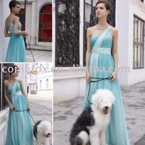 China simple light green bridesmaid dresses, elegant belted bridesmaid ceremony dresses wholesale