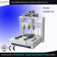 China Three Dispensing Head Automated Dispensing Machines 0.01 Mm / Axis wholesale