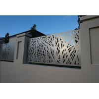 China Architectural Metal Aluminum Decorative Laser Cut Fencing Panels or steel panels wholesale