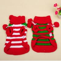 Quality Christmas Teddy puppia dog clothes Winter Autumn BallBall Turtleneck Sweater for sale