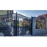 China Rot Proof Metal Wrought Iron Railing Black Powder Coated With Galvanized on sale