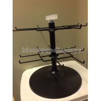 China Black 2 - Tier Spinner Rack Display Stand 16 Hooks Swivel Display Rack For Products wholesale