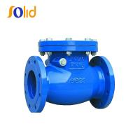 China Ductile cast iron double flanged swing check valve PN16 for water supply wholesale