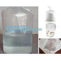 round bottom plastic drum liner bags, salvage drum liner, round bottom plastic bag , LDPE Polybags for packing fish, pac