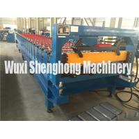 China Blue Color High Strength Metal Deck Roll Forming Machine Big Wave Length wholesale