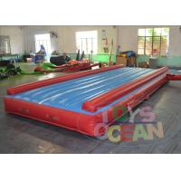 China Blue Exercise Inflatable Gymnastics Equipment Tumble Track For Sports Center wholesale