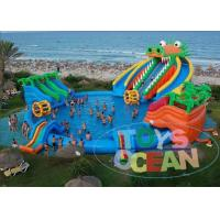 China Dragon Huge Adults Inflatable Water Park Slides For Swimming Pool wholesale