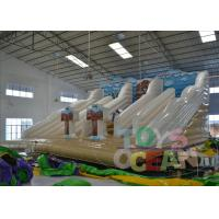 China White Bounce Inflatable Outdoor Water Slide Rental Amazing For Party wholesale