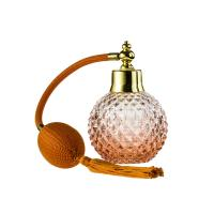 China Long Hose Glass Round Perfume Bottle 100Ml Perfume Atomizer With Bulb wholesale
