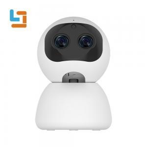 China 1080P Binocular Lens Smart WIFI CCTV Camera Face Recognition Voice Alarm wholesale