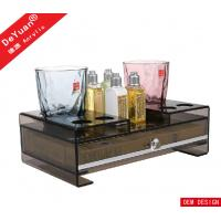 China Luxury Stars Hotel Amenities Acrylic Display Stands / Plastic Tray on sale