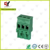 Wholesale Plug Type Connector Terminal Block Wire Range 28 - 12 AWG , Plug in Terminal Block from china suppliers
