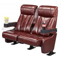 China Luxury Leather Home Theater Chair / Movie Theater Seats With 2.0mm Steel Leg wholesale