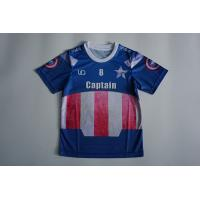 Buy cheap Sublimation Mesh Dry Fit O Neck Children's Soccer Jerseys With Blue Color from wholesalers
