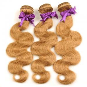 Unprocessed Virgin Hair Extension #27 Body Wave Hair 3 Bundles With Closure