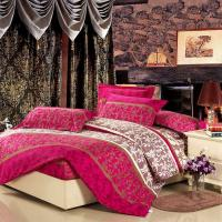 China Colorful Full Size 5 Piece Polyester Bed Set Embroidered Printed Plain Dyed wholesale