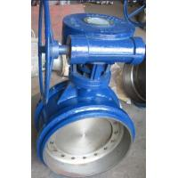 Quality Gearbox Operated Butt Welded Eccentric Butterfly Valve 16'' Three Eccentric for sale