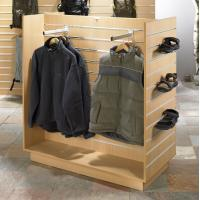 China Promotional 4 way wood & MDFgarment display rack for retail stores show clothes and shoes wholesale