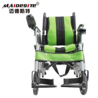 China Stable Small Motorized Wheelchair , Fold Up Motorized Wheelchair Shock Absorbing wholesale