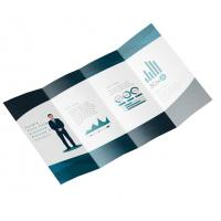 Quality Foldable Business Card Printing , A5 Leaflet Printing Art Paper Full Color for sale