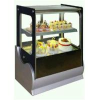China Cake Refrigerator Display Showcase Copper Colored For Cafe And Restaurant wholesale