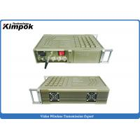 China Vehicle Mounted COFDM HD Video Transmitter 100-200km Military Long Range RF Transmitter 20W RF wholesale
