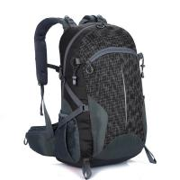 China Free LOGO Lightweight Travel Backpack Black  40L Wear Resistant Waterproof wholesale