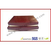 China Leather Magnetic Box Customized Crocodile Leather Paper  Satin Covered Foam wholesale