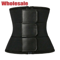 China Black Hollow Body Sculpting Elastic Three Band Waist Trainer For Love Handles wholesale
