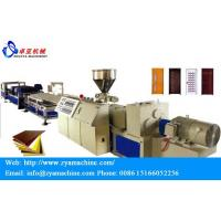 Wholesale WPC PVC Door Panel/Plate Wood Plastic Profile Production Line from china suppliers