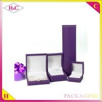 China Luxury pu leather plastic jewelry gift packaging box wholesale