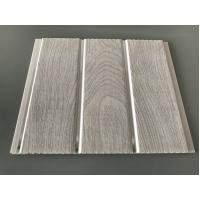China Double Middle Groove 25cm Decorative PVC Panels With Wooden Printing wholesale