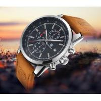 Buy cheap Benyar Men Leather Band 6 Hands Chronograph Quartz Wrist Watch Fashion High from wholesalers