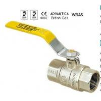 China Forged Brass Gas Ball Valve,Yellow Steel Lever Handle wholesale