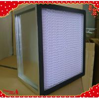 Buy cheap 610x610x292mm galvanized frame separator mini pleated hepa filter air purifier from wholesalers
