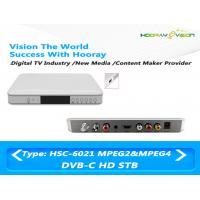 Wholesale Cardless HD MPEG-4 DVB C  Set Top Box With Hisilicon Chipset support PVR from china suppliers