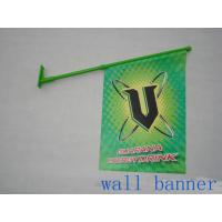 Quality Custom PVC Wall Mounted Shop Front Flags With Pole Dye Sublimation for sale
