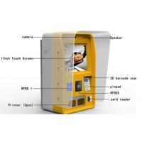 China Half Outdoor Wall Mounted Self Service Payment Commercial Kiosk With Printer wholesale